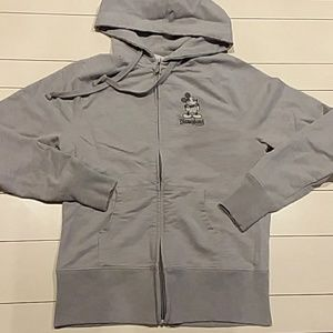 Disneyland gray xs sweatshirt zip-up hoodie